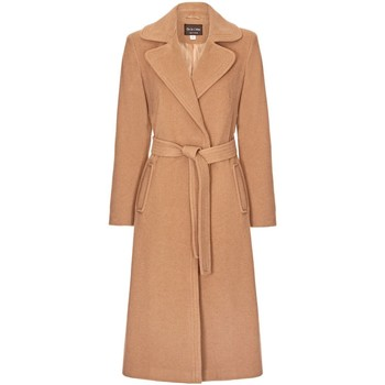 Anastasia Camel Womens Cashmere Wrap Belted Coat women's Trench Coat in Beige. Sizes available:UK 10,UK 12,UK 14,UK 16,UK 18,UK 8,UK 20,UK 22